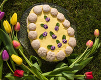 Easter cake. In the shape of egg, Slovakia Royalty Free Stock Photography