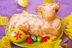 Easter cake in the shape of lamb Stock Photos
