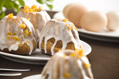 Easter cake with sugar-icing Stock Photography