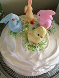 Four Bunny Cake stock photography