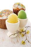 Cakes and eggs Royalty Free Stock Images