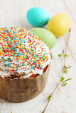 Sprinkle cake with multicolored Stock Photography