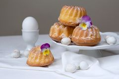 Easter cakes and eggs Royalty Free Stock Photo