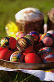 Easter cakes and eggs Royalty Free Stock Photos