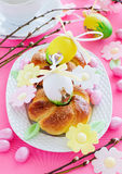 Easter cakes in the form of a wreath Royalty Free Stock Image