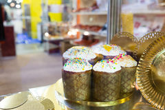 Easter cakes on the shelf Royalty Free Stock Photography