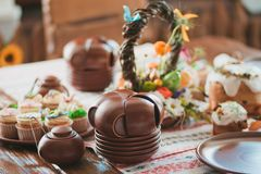 Easter cakes on the table.  Stock Photography