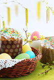 Easter Cakes With Eggs Stock Photo