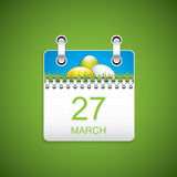 Easter calendar Royalty Free Stock Photography