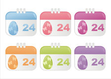 Easter calendar icons Stock Image