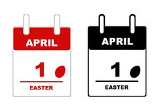 Easter calendar 2018 isolated. On white Royalty Free Stock Images
