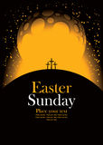 Easter with Calvary and crosses Royalty Free Stock Image