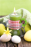 Easter candle Royalty Free Stock Image