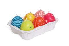 Easter Candle Eggs Royalty Free Stock Photography