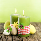 Easter candles Stock Photo