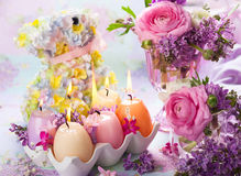 Easter candles Stock Images