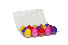 Easter candles in the shape of eggs Royalty Free Stock Photo