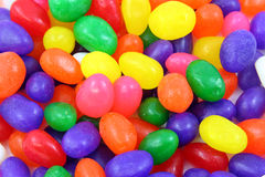 Easter Candy. Close up picture of colorful jelly bean Easter candy Stock Photo