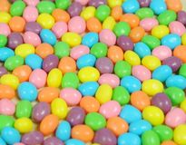 Easter candy. Group of colorful easter candy on te table Royalty Free Stock Photography