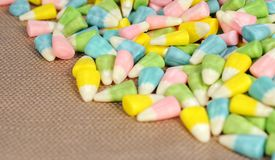 Easter candy. Group of colorful easter candy on the table Royalty Free Stock Images
