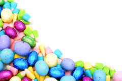 Easter candy border Royalty Free Stock Images