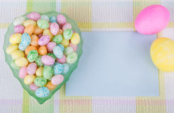 Easter Candy in a bowl Royalty Free Stock Images