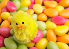 Easter candy with chicken Royalty Free Stock Photo