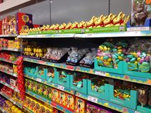 Easter candy or chocolate eggs. Stock Image