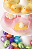 Easter candy and chocolates Stock Photo