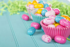 Easter Candy in cup cake wrappers Royalty Free Stock Image