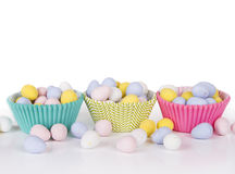 Easter Candy in cup cake wrappers Stock Image