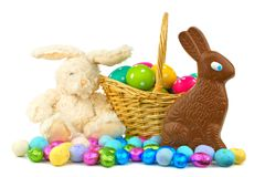 Easter candy and decor Stock Image