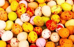 Easter  candy eggs Royalty Free Stock Photos