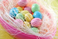 Easter candy eggs Stock Photos