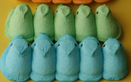 Easter candy peeps Royalty Free Stock Photo