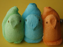 Easter candy peeps Royalty Free Stock Images