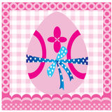 Easter card. With pink easter egg Royalty Free Stock Photography