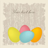Easter card. With eggs and chickens Stock Photography