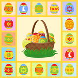 Easter card. Bright easter card. vector  illustration Royalty Free Stock Photos