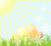 Easter card. Easter greeting card presenting Easter eggs Royalty Free Stock Photos