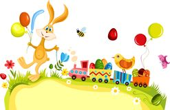Easter card. Vector illustration of a easter card Stock Photography
