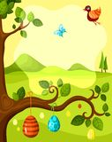 Easter card. Illustration of a easter card Royalty Free Stock Image
