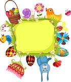 Easter card. Vector Illustration of a easter card Stock Photos