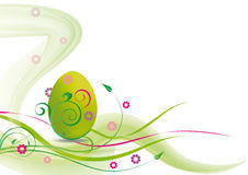Easter card. Cute easter card in green color with egg Royalty Free Stock Photography