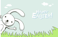 Easter card. Cute greeting card with bunny for Easter Royalty Free Stock Photography