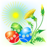 Easter card. Illustration on the theme of Easter Royalty Free Stock Photography