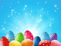 Easter card. With color eggs Stock Photography