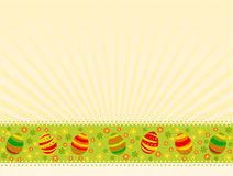 Easter card. Vector illustration of colored easter eggs with flowers Royalty Free Stock Photo