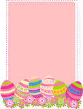 Easter card. Vector illustration of colored easter eggs with flowers Stock Photos