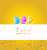Easter card stock image